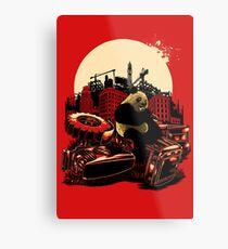Angry Panda Metal Print