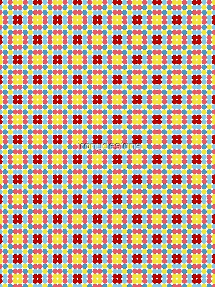Circle Squares Seamless Pattern by ironydesigns