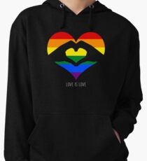 Love Is Love LGBT Rainbow Heart  Lightweight Hoodie