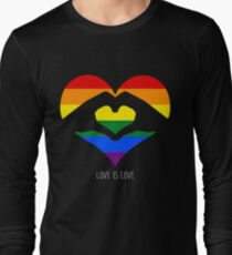 Love Is Love LGBT Rainbow Heart  Long Sleeve T-Shirt