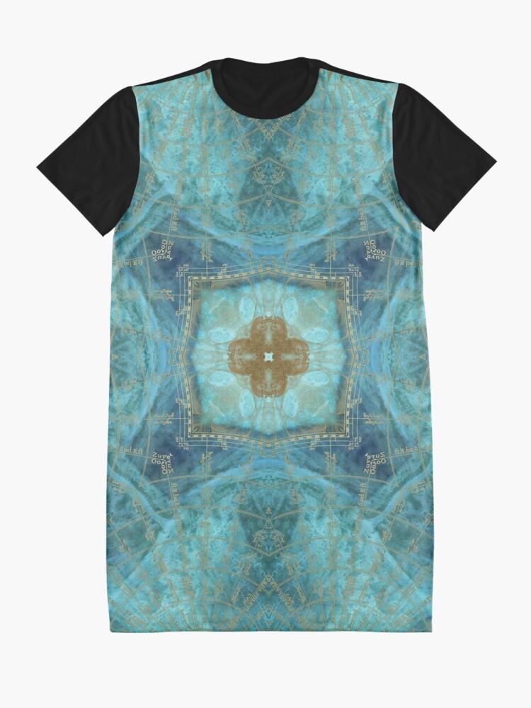 Alternate view of Mandala wind rose Graphic T-Shirt Dress