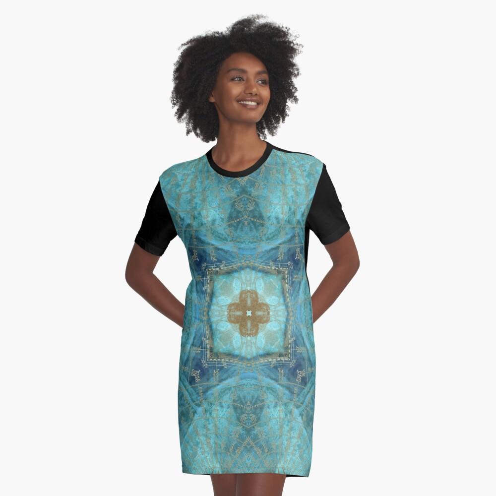 Mandala wind rose Graphic T-Shirt Dress