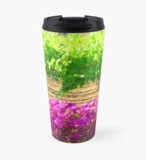 Vineyard with Bouganvillea Travel Mug