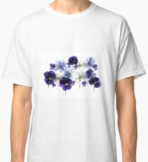 backlit pansy petals on a lightbox  Classic T-Shirt