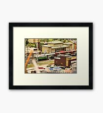 Military Tanks Transportation by rail  Framed Print