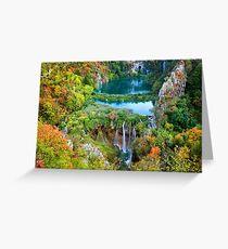 Nationalpark Plitvicer Seen in Kroatien Grußkarte