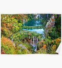 Plitvice Lakes National Park in Croatia Poster