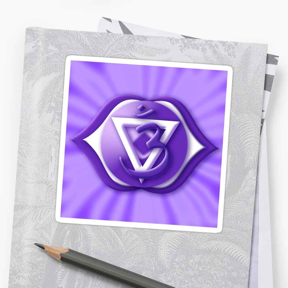 6th Chakra Symbol 3rd Eye Ajna Stickers By Haymelter Redbubble