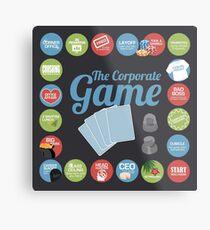 Corporate Game with humorous milestones. Metal Print