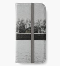 snowy walls, 2009 Lucca 1 iPhone Wallet/Case/Skin