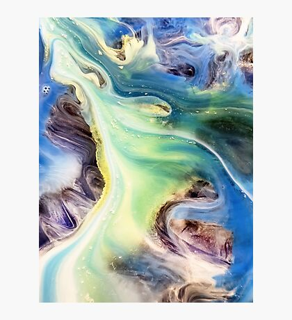 Island Abstract Watercolor Painting Photographic Print