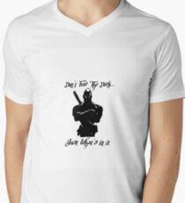 """Don't Fear The Dark"" Artwork by Carter L. Shepard"" Mens V-Neck T-Shirt"