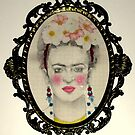 Frida Kahlo in Baroque frame by Elisabete Nascimento