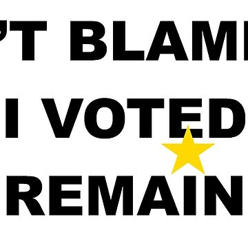 don't blame me i voted remain by monart