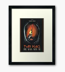 Fire Walk With Me alt Movie Poster Framed Print