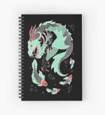 Sea Dragon -- Partial Color Spiral Notebook