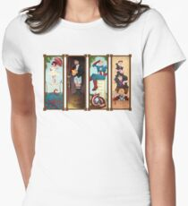 Avengers Stretching Portraits Women's Fitted T-Shirt