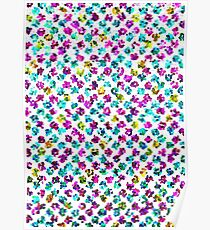Abstract Floral Spots Poster