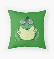 Hipnogenic Toad  Throw Pillow