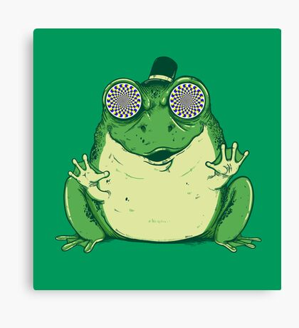 Hipnogenic Toad  Canvas Print