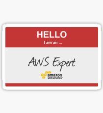 Hello I'm an AWS Expert! Sticker