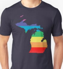 rainbow michigan Unisex T-Shirt