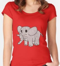 Satao the Paper Elephant Women's Fitted Scoop T-Shirt