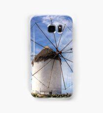 Thatched Windmill on Mykonos Samsung Galaxy Case/Skin