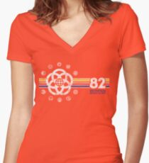 EPCOT Center Vintage Style Distressed Pavilion Logos  Women's Fitted V-Neck T-Shirt