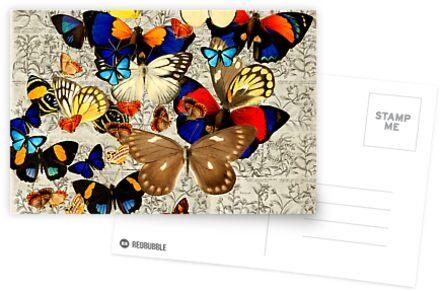 Botanical Butterflies Greeting Card von historicnature