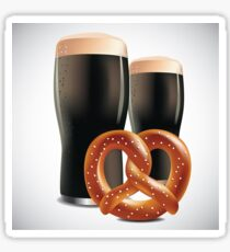 Beer and pretzels Sticker