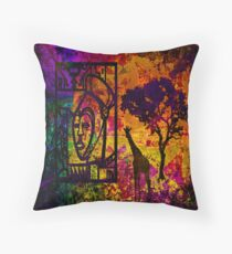 African Art. Sunrise Throw Pillow