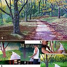 The Painting Process: 'An Autumn Walk (Around Bass Lake)' by Jerry Kirk