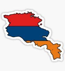 Armenia Map With Armenian Flag Sticker