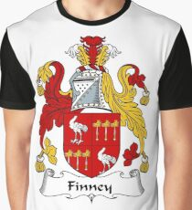 Finney Coat of Arms / Finney Family Crest Graphic T-Shirt