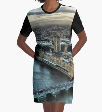 London - Palace Of Westminster Graphic T-Shirt Dress