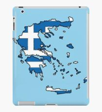 Greece Map With Greek Flag iPad Case/Skin