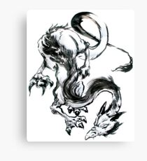 Dragon Brush Canvas Print