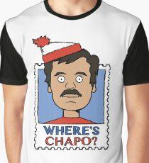 Where's Chapo - Stamp Graphic T-Shirt