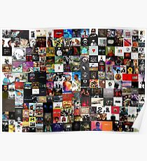the greatest hip hop collage Poster