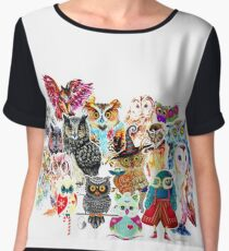 Owls collage Chiffon Top