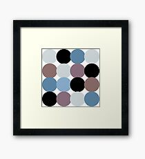 Retro Classic Oldstyle Pattern inspired by 50s, 60s, 70s ( luxury edition ) Framed Print