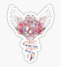 Attack on titan | Corps crest | If you don't fight, you can't win Sticker