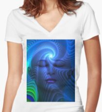 Centered in Motion Women's Fitted V-Neck T-Shirt