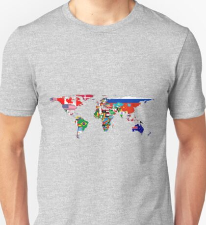 The World Flag Map T-Shirt