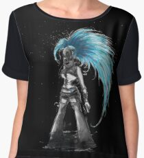 Rainbow Punk: Cybernetic Blue Women's Chiffon Top