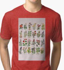Herbal Alphabetical Watercolor Tri-blend T-Shirt