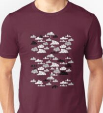 Doodle clouds and cats T-Shirt