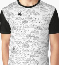 Doodle clouds and cats Graphic T-Shirt