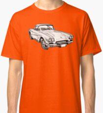 1962 Chevrolet Corvette Illustration Classic T-Shirt